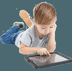 Image of child playing ipad 1